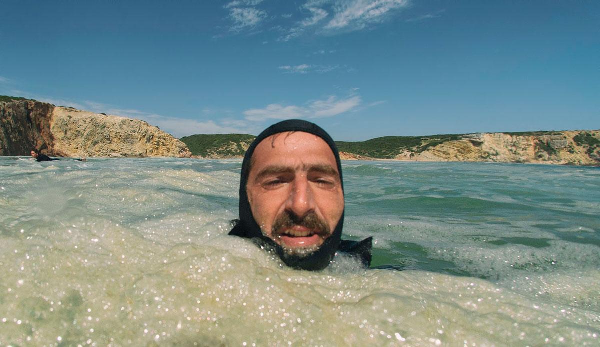 "Zavial. Stoked after taking an 8 foot set on my head. <a href=\""http://joaobracourt.com/\"">João Bracourt</a>"