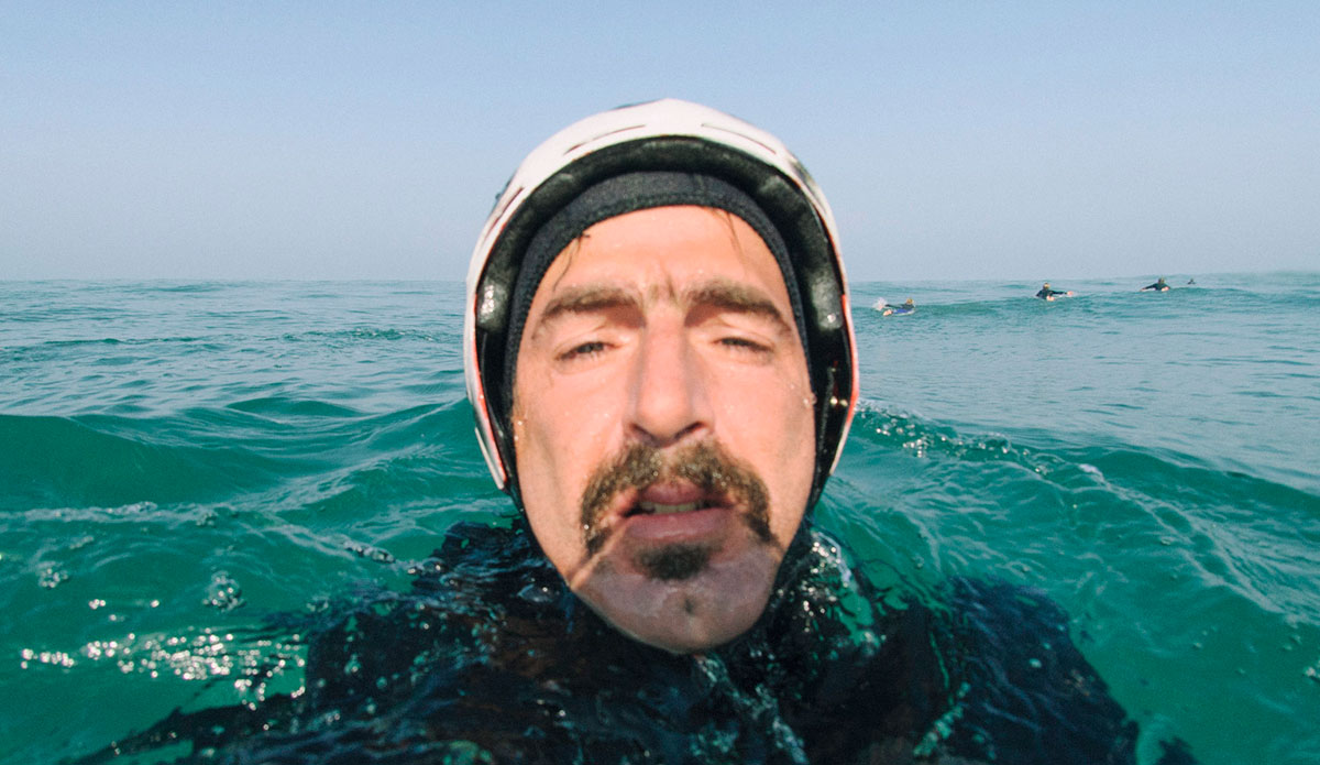 """My first helmet paired with my mustache didn\'t get me any photo trips with the pros... <a href=\""""http://joaobracourt.com/\"""">João Bracourt</a>"""
