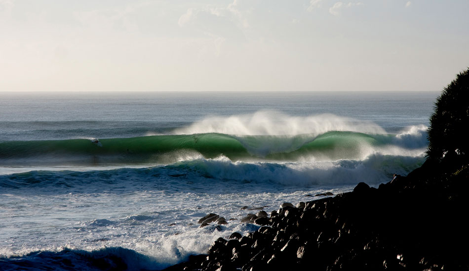 """OSCILLATE - BURLEIGH HEADS, AUSTRALIA. One of the best days I have ever seen at Burleigh Heads. A rare, really big swell with offshore winds. Photo: <a href=\""""http://www.bluespherephotography.com\"""">Shelli Bankier</a>"""