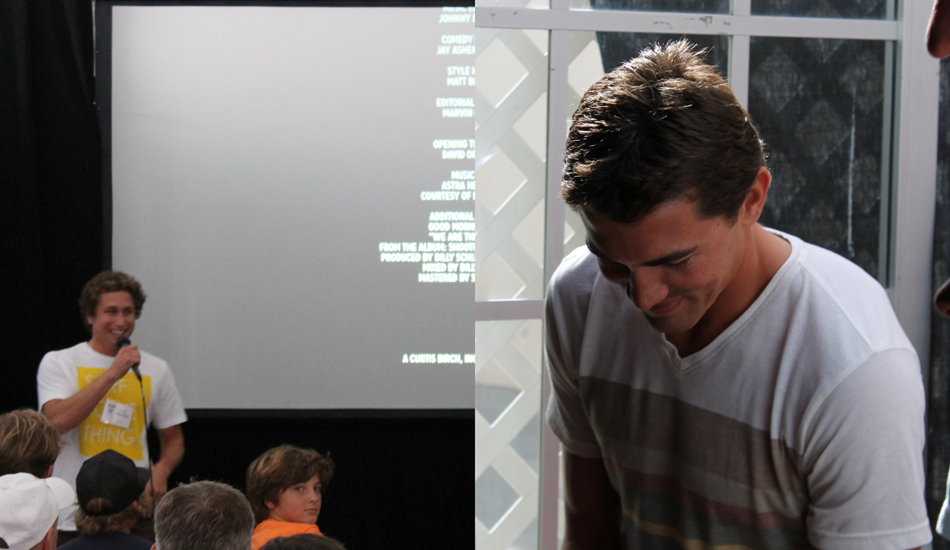 After the documentary, Zach introduced a very humble Greg Long. Photo: Green