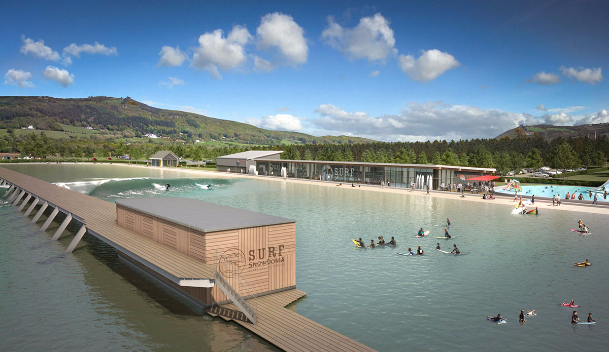 A CGI photo shows the final product at Surf Snowdonia, set to open August 1st, 2015. Photo: Surf Snowdonia