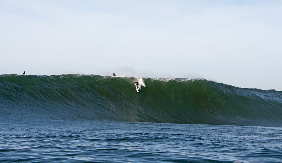Mavericks: After years pent up in Jeff Clark\'s embrace, Mavericks exploded onto the big-wave scene in 1990. It\'s dark, it\'s cold, and it\'s a killer: Mark Foo\'s life ended here, sadly changing the world of surfing forever. Photo: Jason Murray