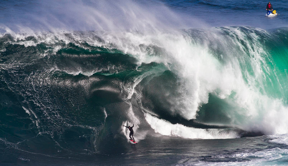 """Shipstern Bluff: Located off the south end of Tasmania, Shippies trips the entire ocean on a granite slab, then throws itself at a headland that\'s lined in boulders. Once called Devil\'s Point, the complicated bathymetry at Shipstern creates a wave that mutates as it folds over on itself. Watch thou for the Mutant! Photo: Photo: <a href=\""""http://www.stugibson.net\"""">Stuart Gibson</a>"""