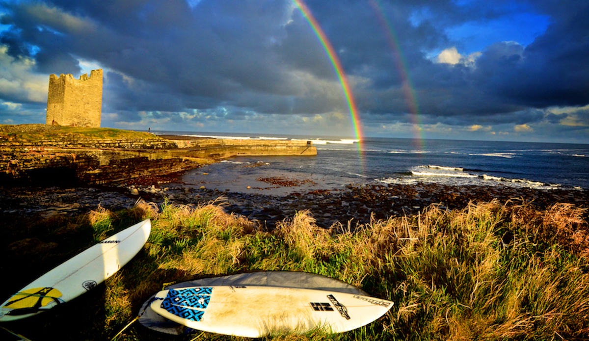 Pot of gold at the end of the rainbow,, easkey left county sligo...