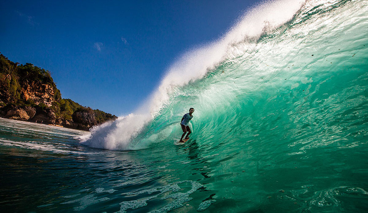 How many times a year does Padang Padang break at sunset at low tide on a big swell? Agus \'Dag\' could probably tell you, but you\'ll have to wait until he gets out of the green room to ask him.