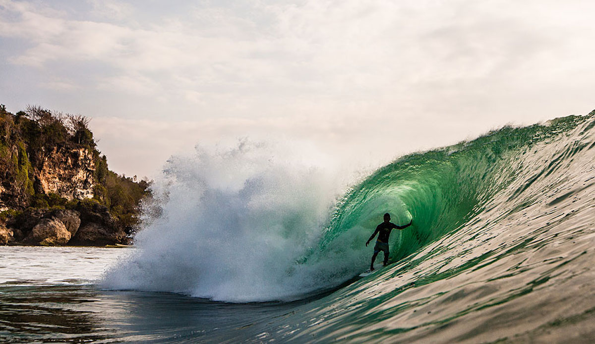Spend enough time in the green room (instead of the board room) and you might have an afternoon like this at Padang Padang in Bali. Just ask Mega Semadhi, he\'s the chairman of the board.