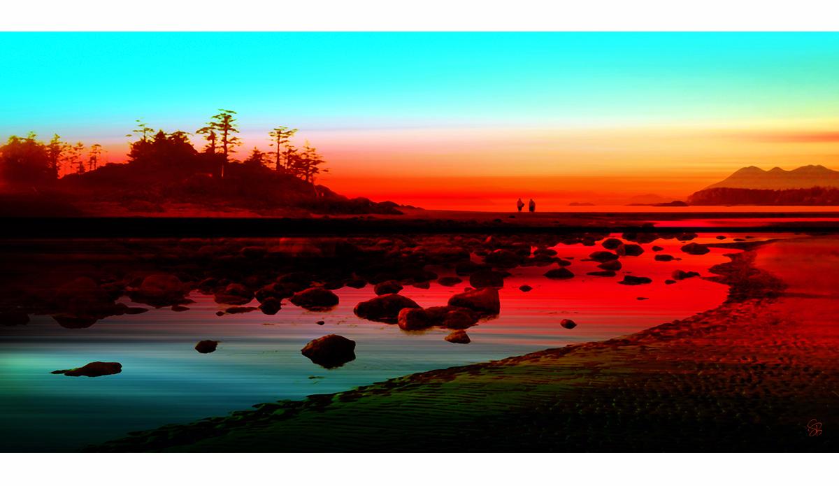 "Frank Island Sunset. Photo: <a href=\""http://www.artography27.com/\"">Stacey Bodnaruk</a>"