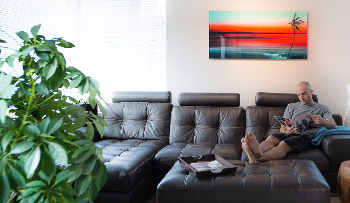 """Sunset Surfer at Home. Photo: <a href=\""""http://www.artography27.com/\"""">Stacey Bodnaruk</a>"""