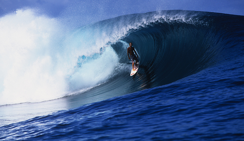 """Damon Harvey making things look so fun and easy at Teahupoo. Image: <a href=\""""http://www.vincestreet.com\"""" target=\""""_blank\"""">Street</a>"""