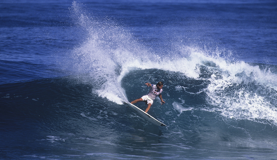 """Richie Lovett making big turn during a small day of the Pipeline Masters! Image: <a href=\""""http://www.vincestreet.com\"""" target=\""""_blank\"""">Street</a>"""