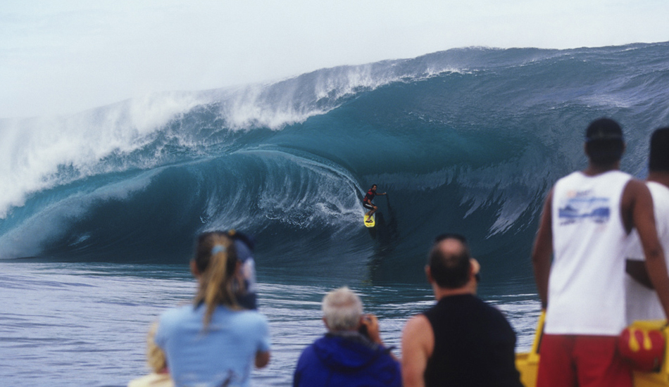 """Here\'s Everaldo from Brazil on a monster of a wave at Teahupoo in 2005. Image: <a href=\""""http://www.vincestreet.com\"""" target=\""""_blank\"""">Street</a>"""