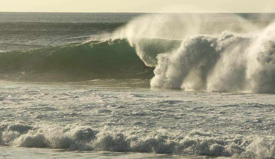 "Unidentified surfer tucked away at Backdoor. Image: <a href=\""http://www.vincestreet.com\"" target=\""_blank\"">Street</a>"