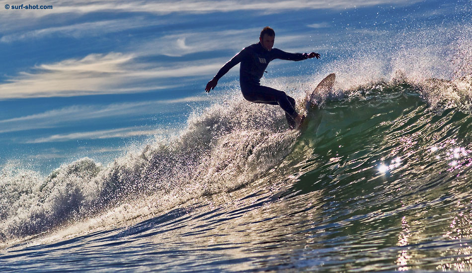 """Off the lip on his creation. Photo: <a href=\""""http://www.surf-shot.com\"""" target=_blank>Surf-Shot.com</a>"""