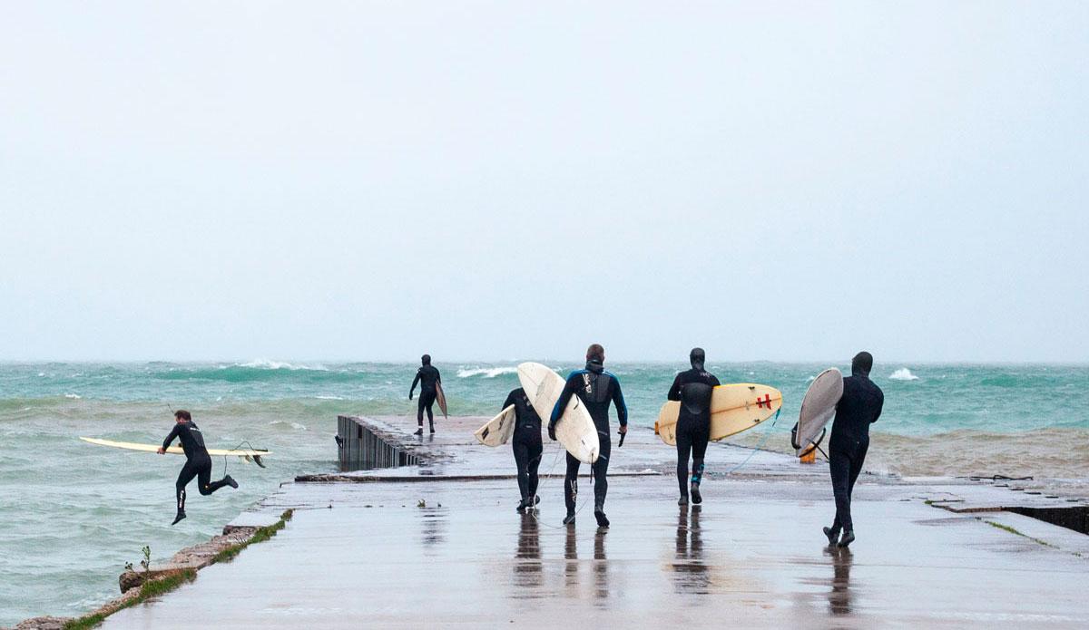 "Surfers heading into their \""heats.\"" Photo: <a href=\""http://instagram.com/lucasmurnaghan\"">Lucas Murnaghan</a> | <a href=\""http://www.surfthegreats.org/\"">Surf the Greats</a>"