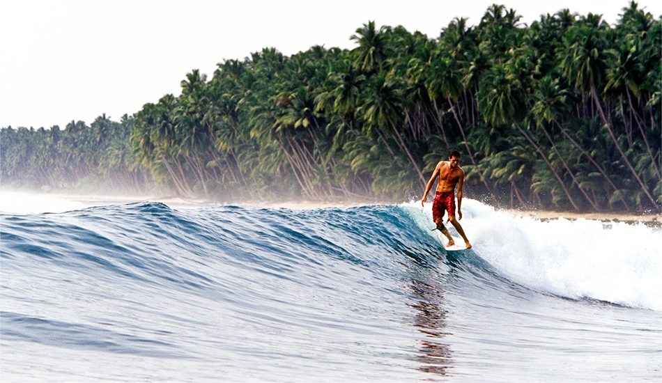 "Indonesia. Sam Bleakley gets on the nose in the Batu Islands, north of the Mentawai. This bay holds several right reef waves and a fantastic all-coconut backdrop for a lovely tropical ambience and always has fewer boats and surfers than the Mentawai islands. Image: <a href=""www.tropicalpix.com\"" target=\""_blank\"">Callahan</a>/<a href=\""http://www.facebook.com/pages/SurfEXPLORE/153813754645965\"" target=\""_blank\"">surfEXPLORE</a>"