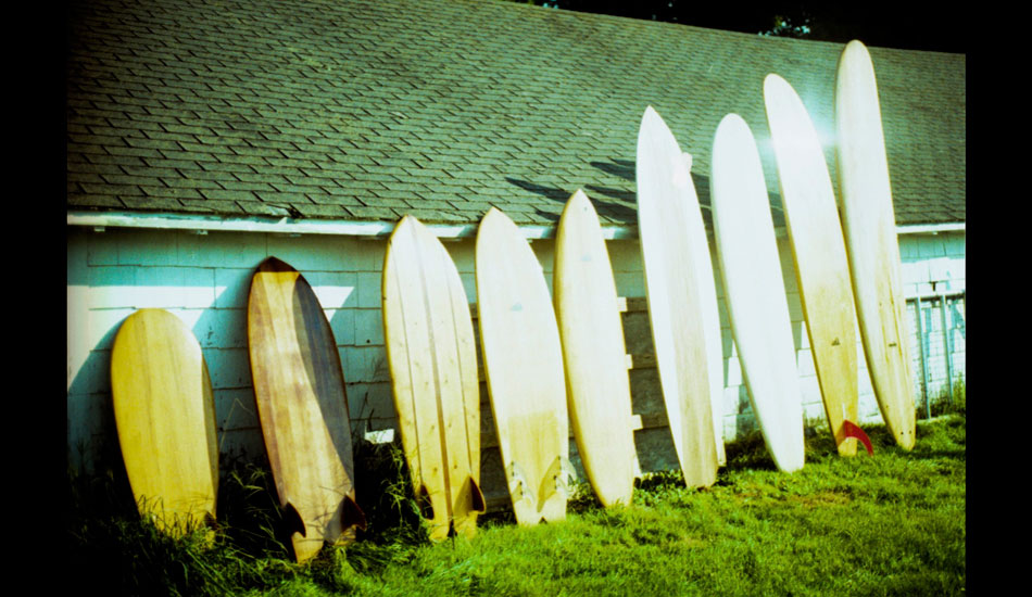 """One of the most interesting quivers you\'ll ever see from <a href=\""""http://www.grainsurfboards.com/boards/\"""" target=_blank>Grain Surfboards</a>. Photo: <a href=\""""http://www.ryantatar.com\"""" target=\""""_blank\"""">Ryan Tatar.</a>"""