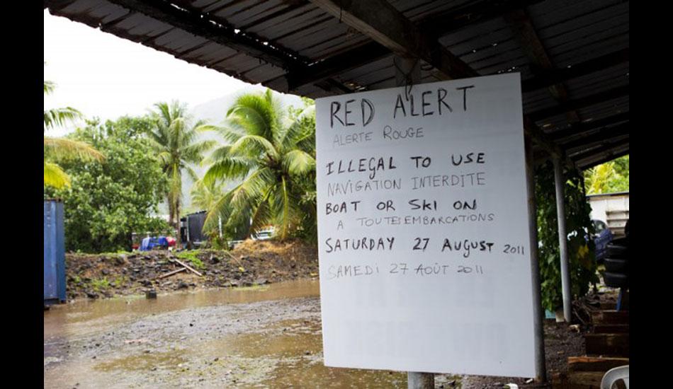 When Teahupoo\'s on Red Alert, listen up. Photo: ASP
