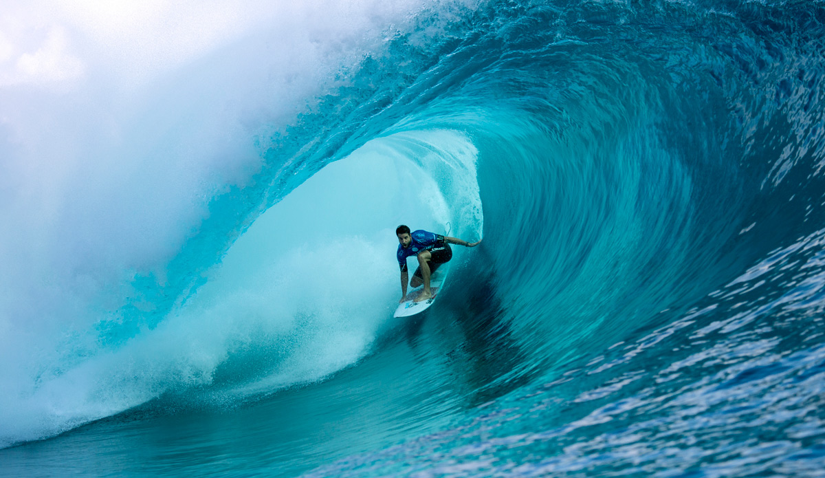 ""\""""It feels bloody good,"""" Atkinson said of his win. """"I'm surfing for my survival, and these guys for the title. I'm out there to win it, and I'm stoked I did, and got barreled in the process."""" Photo: ASP""1200|695|?|en|2|477bb80c62ccdf8b41edf04530deded3|False|UNLIKELY|0.30412834882736206