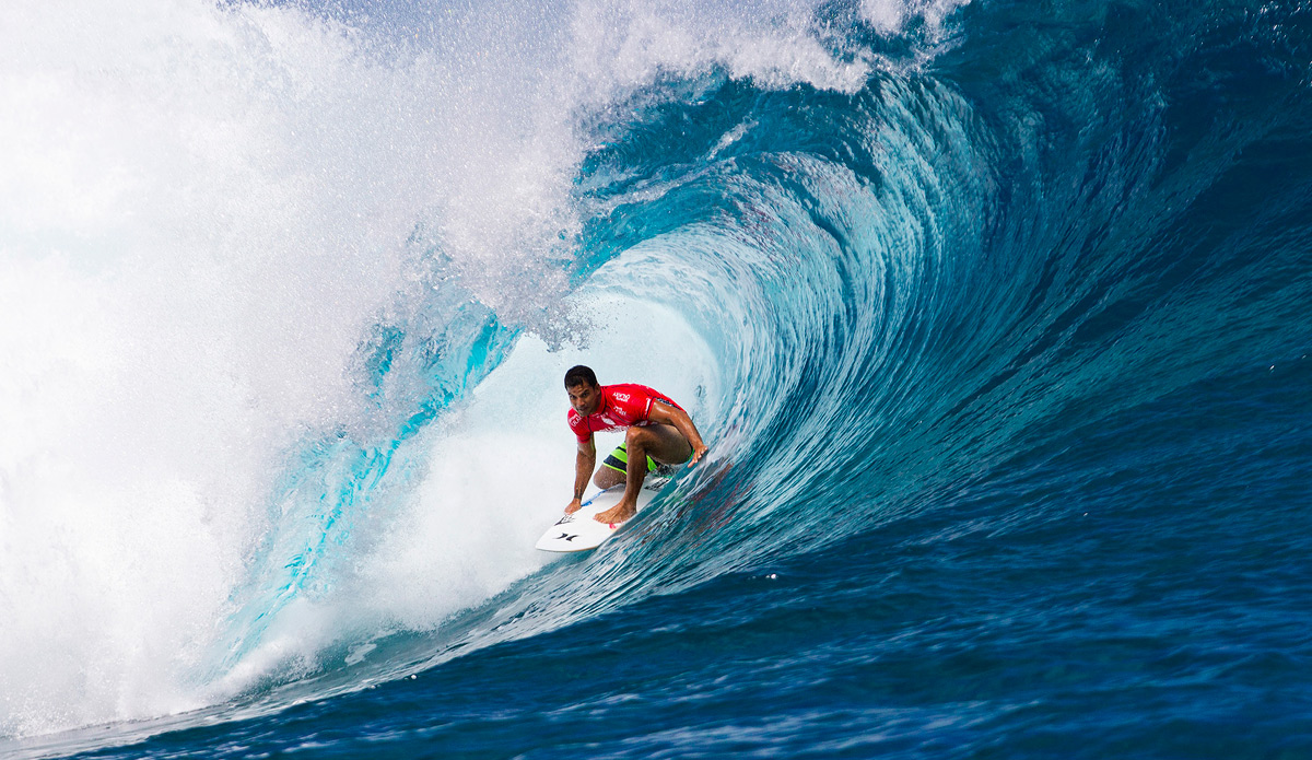 ""\""""As soon as I paddle for a wave I can hear the crowd going nuts,"""" Bourez said. """"I saw his wave, it was a really good one, but mine was a clean exit. I thought he was going to get close but he's not going to get it."""" Photo: ASP""1200|695|?|en|2|e43e1c39dd53a008acddaae424f5bfd3|False|UNLIKELY|0.28686583042144775