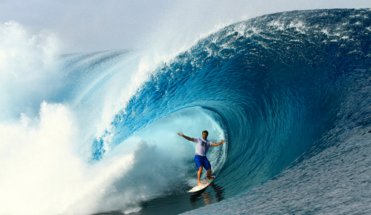 "One of the best barrel riders on the planet and an amazingly nice guy….Anthony Walsh at Teahupoo. Image: <a href=""http://www.vincestreet.com\"" target=\""_blank\"">Street</a>"