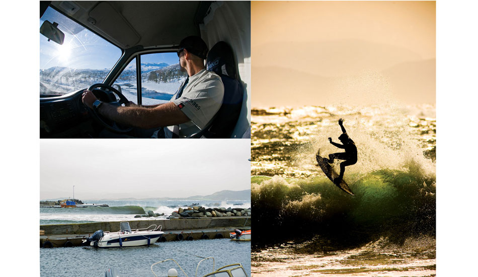 Ian spent months in Norway. He drove his trusty Transit van from Jersey all the way to the Arctic Circle in search of surf.