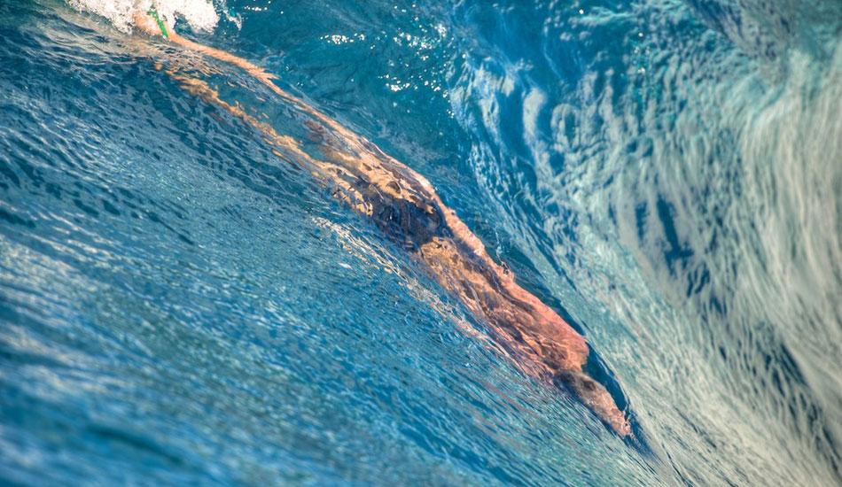 "Mark Cunningham playing within the surface. Teava Iti, Tahiti. Photo: <a href=\""http://www.timmckennaphoto.com/\"" target=_blank>Tim McKenna</a>."