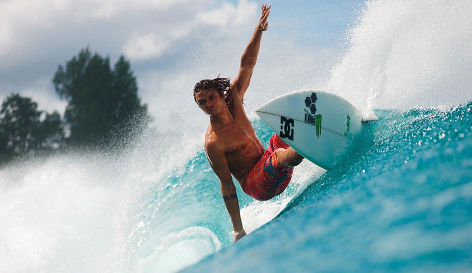 "Europe\'s rising star Marc Lacomar in the Mentawais. Photo: <a href=\""http://www.timmckennaphoto.com/\"" target=_blank>Tim McKenna</a>."