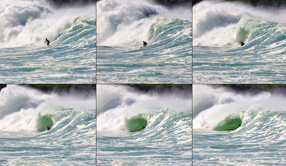 Andy Irons\' legendary Waimea shorebreak pull in. Photo: 