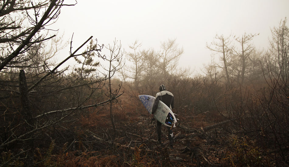 """This is Delmarva standout and good ol\' boy Colin Herlihy cutting through the fog at his homebreak.Photo: <a href=\""""http://thewildlyfe.com/\"""">Eddie Compo/TheWildLyfe</a>"""