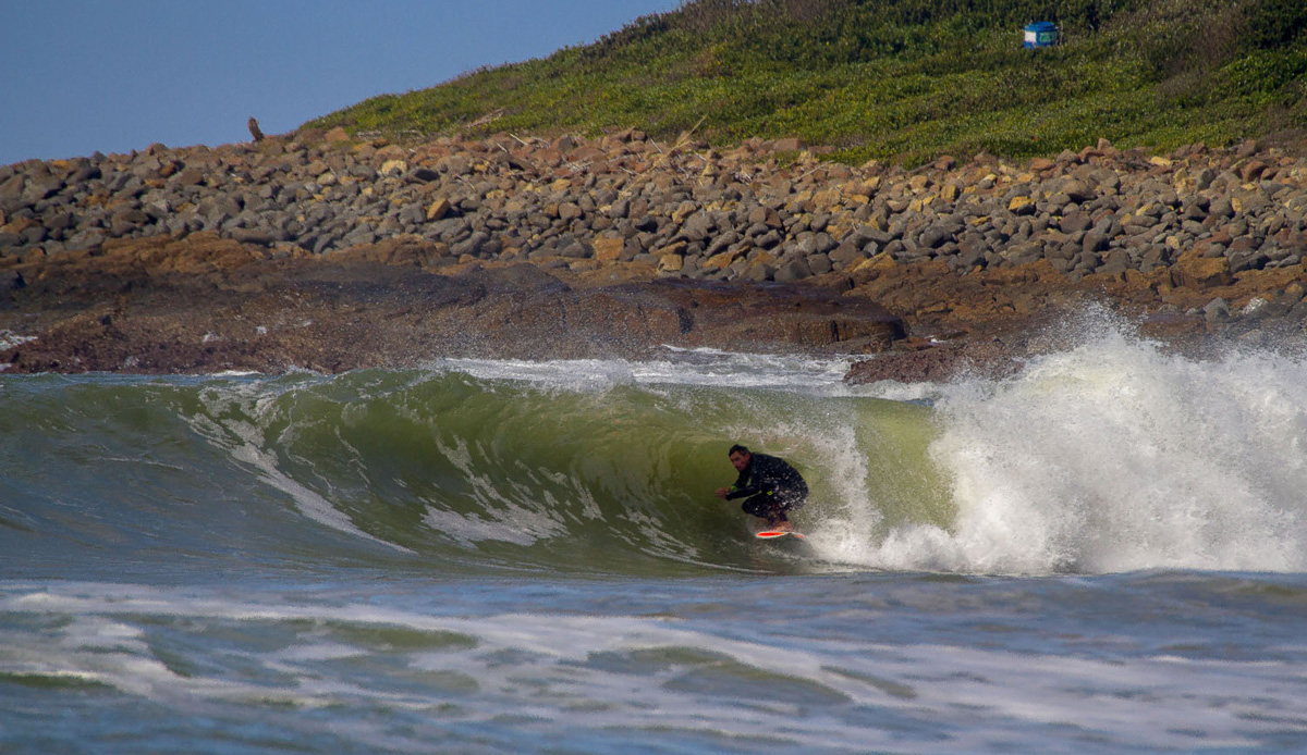 When we do get our summer rain, sand shifts from the bursting rivers and hollow little banks take shape. Wayne Monk. Photo by: Tyerell Jordaan
