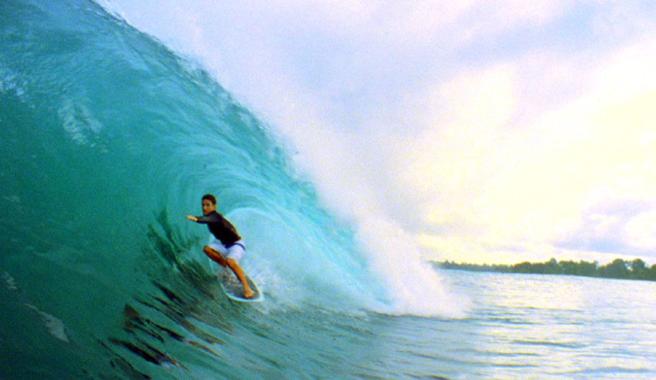 """As you\'ll see in the film, Beau got some of the craziest hang 5 tubes I\'ve ever seen on this little board. Photo: <a href=\""""http://www.korduroy.tv\"""" target=_blank>Cyrus Sutton</a>."""