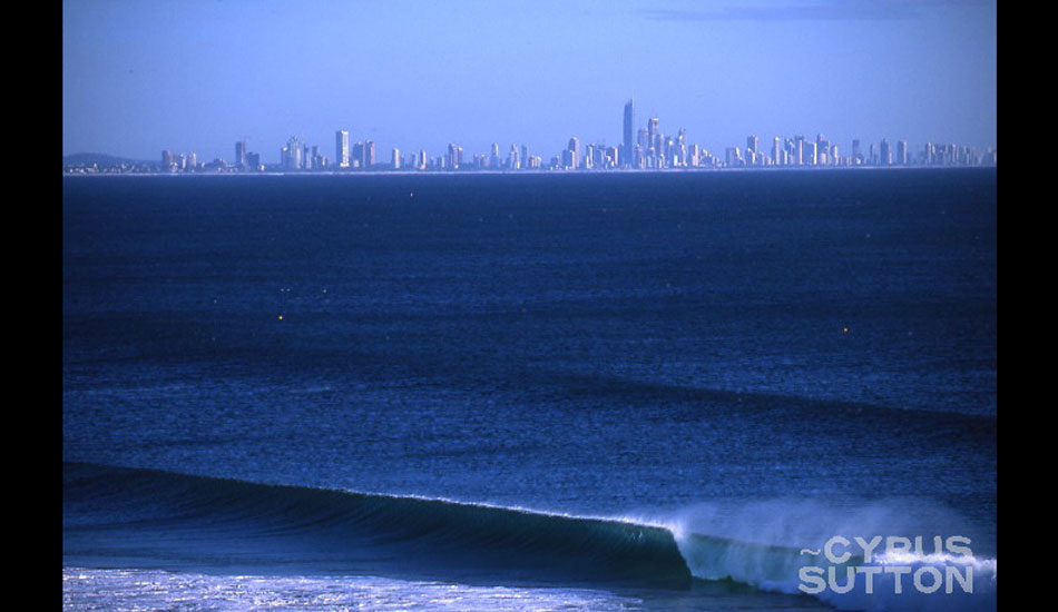 """It\'s a misnomer that the waves on the Gold Coast are always packed. Kirra - 6 feet and lonely. Photo: <a href=\""""http://www.korduroy.tv\"""" target=_blank>Cyrus Sutton</a>."""