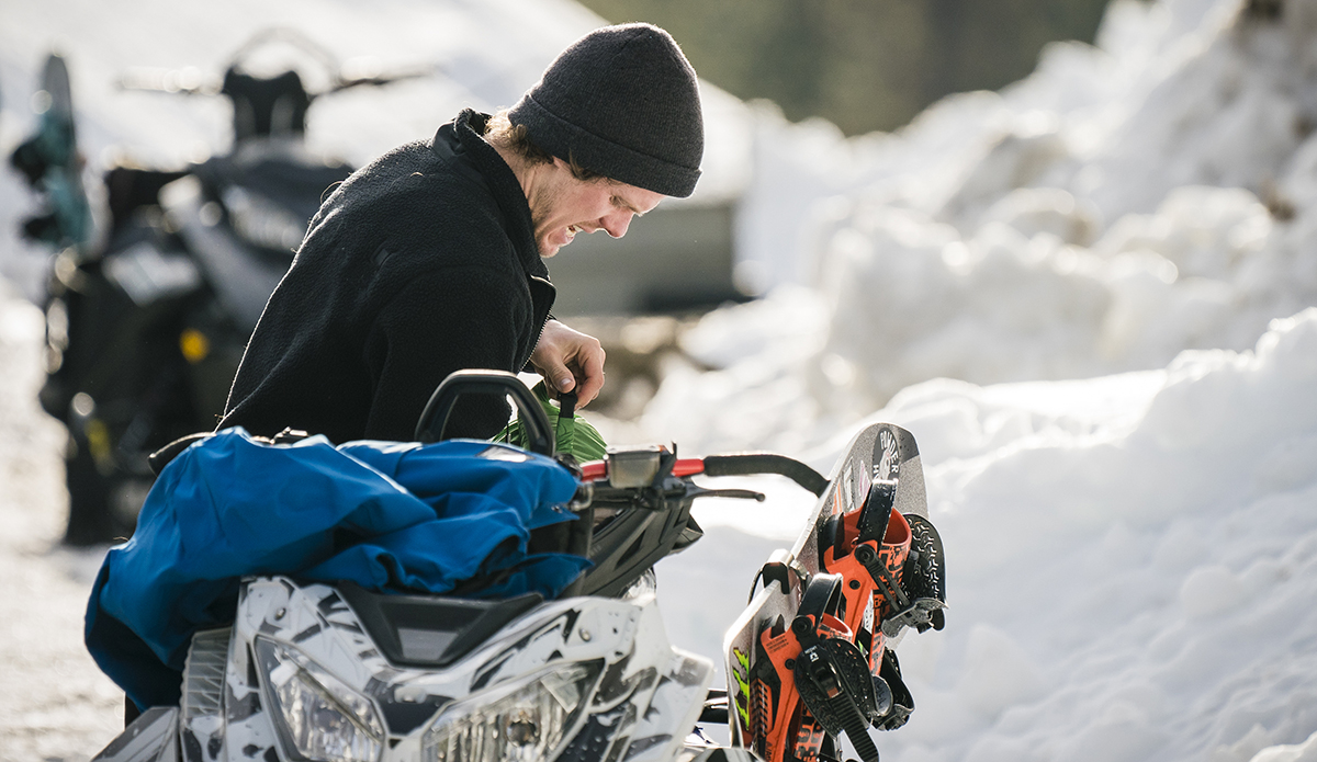 Getting ready for the daily commute. Photo: Chad Chomlack/Natural Selection/Red Bull Content Pool