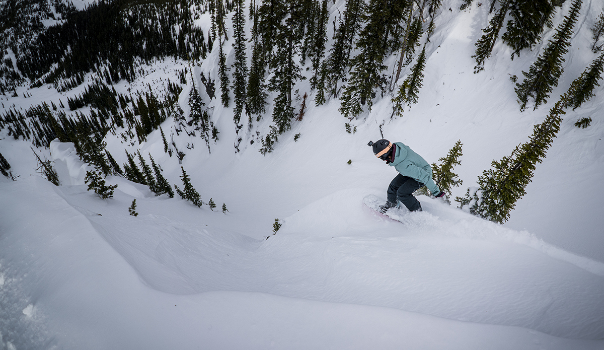 Photo: Ms. Robyn Van Gyn, eying her line. Photo: Chad Chomlack/Natural Selection/Red Bull Content Pool