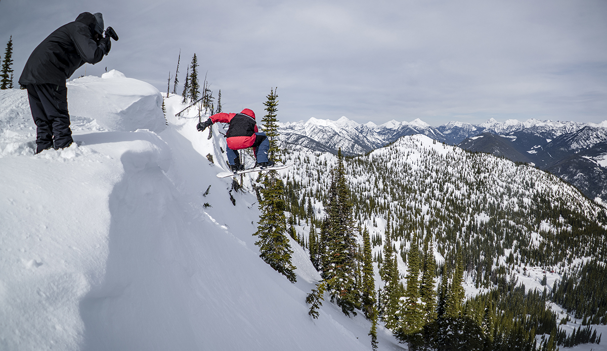 So it begins. Craig McMorris gets the party started. Photo: Chad Chomlack/Natural Selection/Red Bull Content Pool