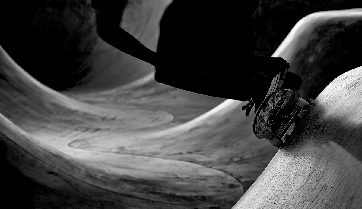 "Into the black; Venice Skatepark. Photo: <a href=\""http://www.brianaverillphotography.com\"">Brian Averill</a>"