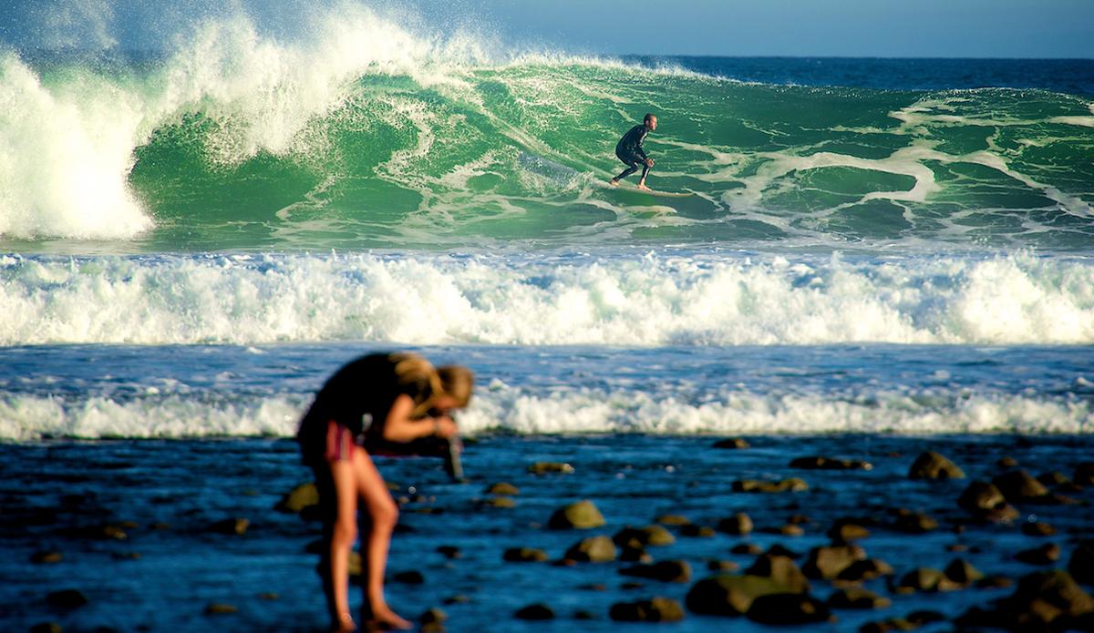 "Sally shooting seashells. Photo: <a href=\""http://www.brianaverillphotography.com\"">Brian Averill</a>"
