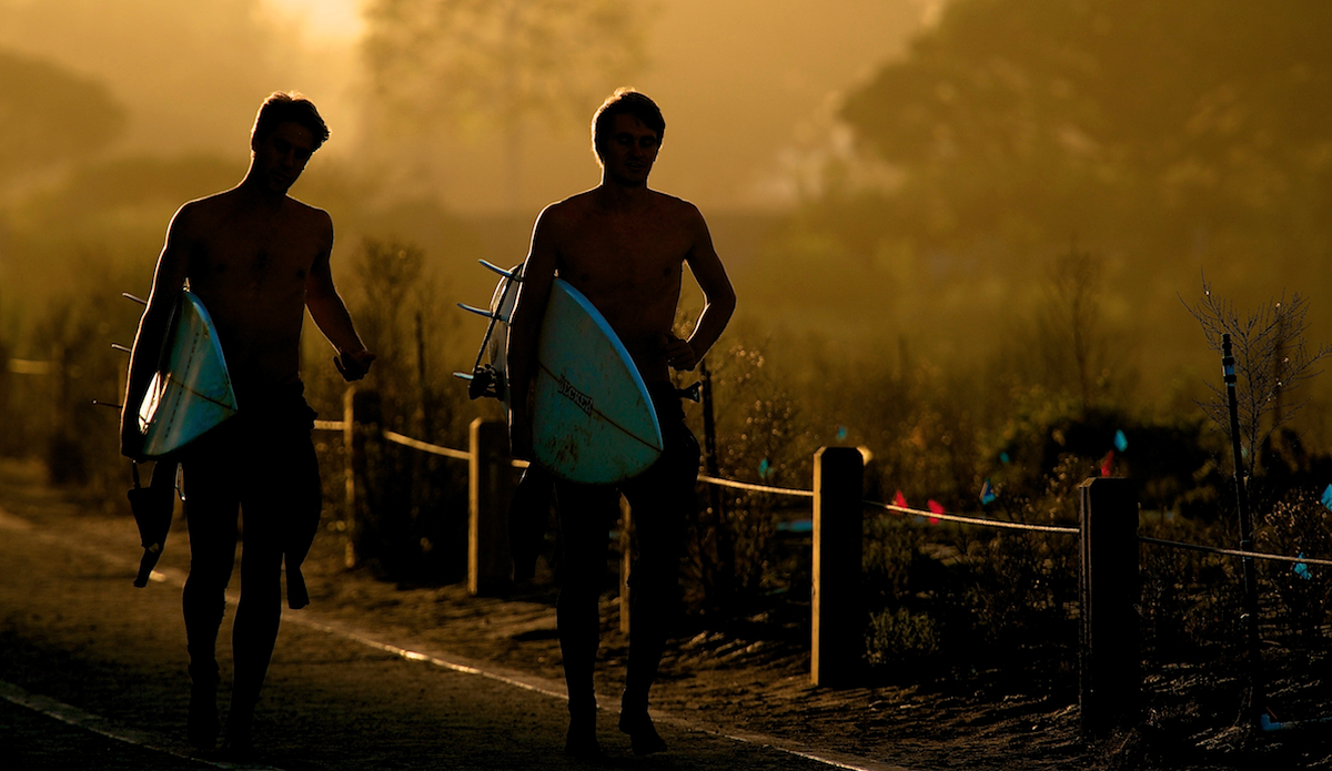 """This is after a long day shooting at Malibu. I was leaving and saw these two rushing out to catch a few before it got dark. Glad I pulled the camera back out. Love the misty light. Photo: <a href=\""""http://www.brianaverillphotography.com\"""">Brian Averill</a>"""