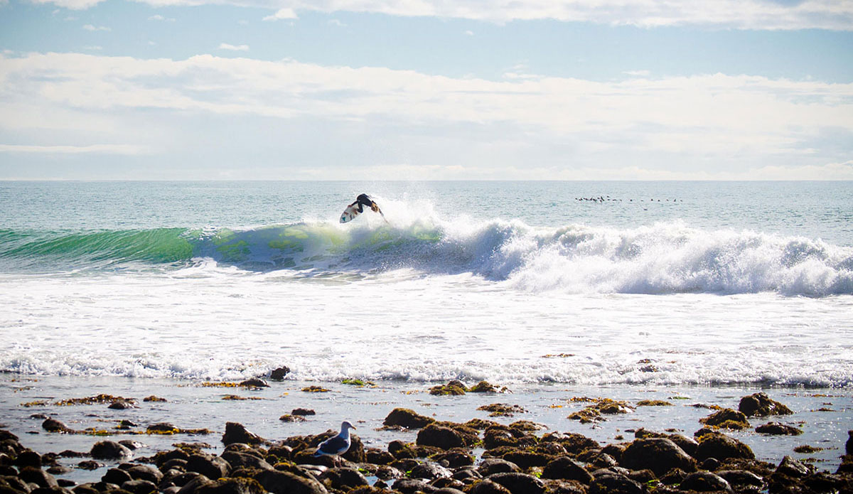 "Corey Colapinto sending it at Rincon, CA. Photo: <a href=""http://www.victoriamouraphoto.com/#0\""> Victoria Smith</a>"