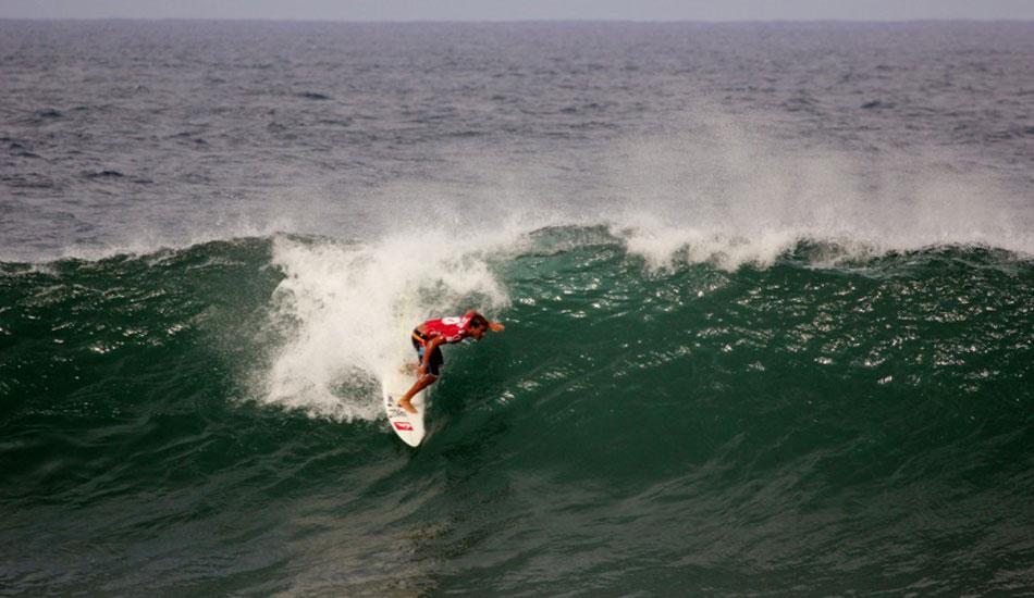 Koa Rothman navigates his way into the pit. Photo: Phil LeRoy