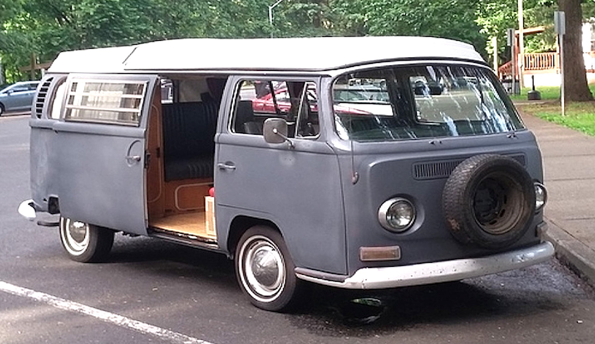1969 VW Bus with a 4 cylinder engine, manual transmission and a blue exterior color.