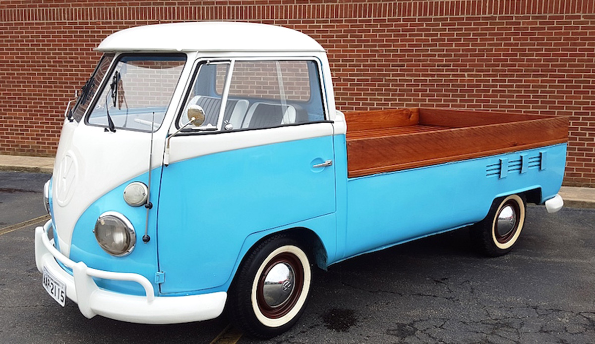 1974 VW Van Truck that is an original VW truck. 4 cylinder engine and manual transmission with a blue exterior color and blue interior color.