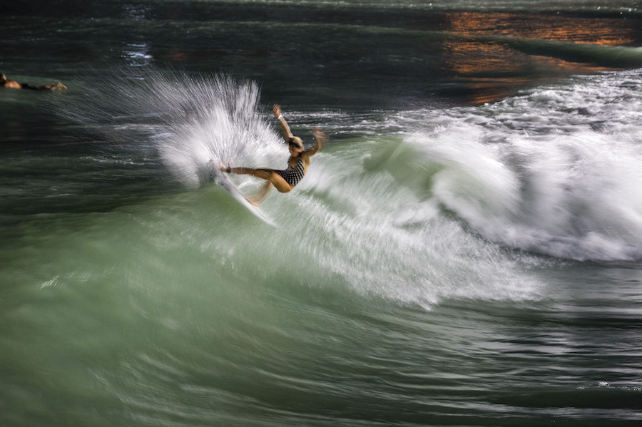 Coco Ho, staying light on her feet.