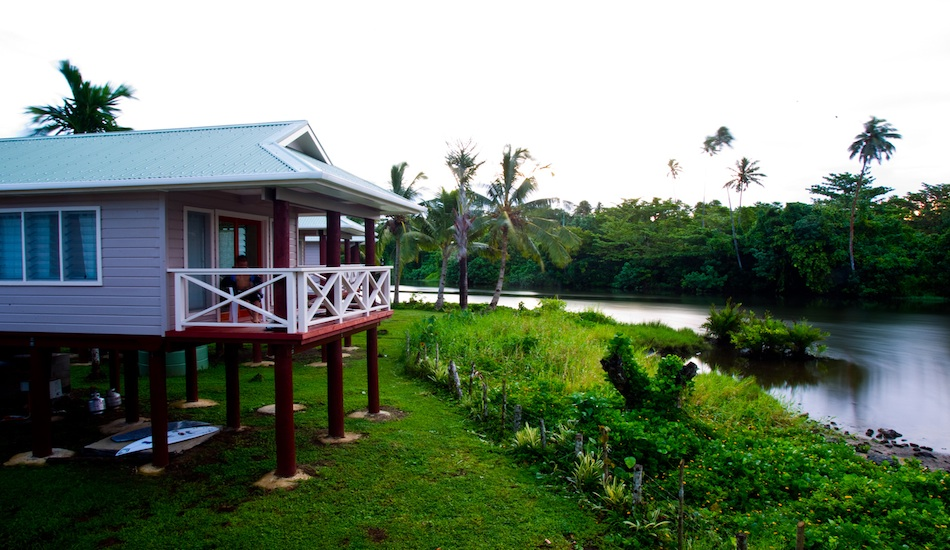 Deck side of the new bungalows facing out onto the river.  So tranquil!