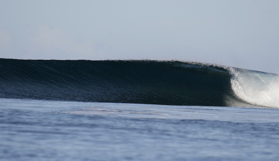 As the quake was centered closer to Tonga, Samoa did not experience any uplift or shift in the reefs; the surf is all still the same, pumping through day after day with just the few to enjoy!