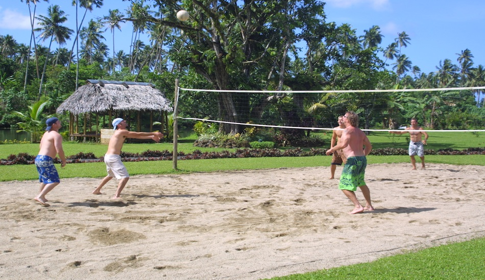 Evening volleyball competitions with guests and staff were always popular.