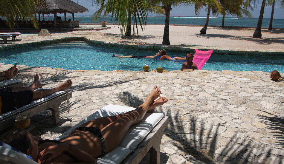 Never ending activities, but the most popular is the mid day lounge around the pool. Image: Murphy