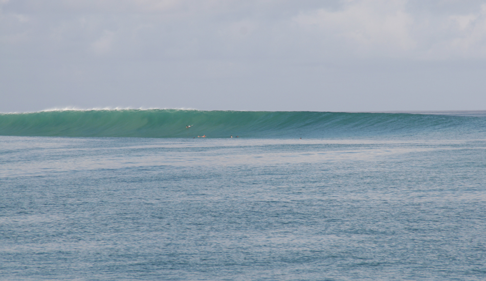 This photo of the main point was not taken on our trip, but I wanted to include it just to show how it really holds size. In the 16 years I have been traveling to Nemberala I have never seen it close out, nor have I ever heard it was too big to handle the swell. Image: Murphy