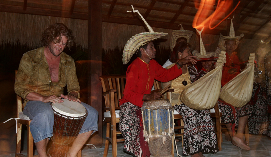 Generally one night a week we have music after dinner; sometimes traditional music, sometimes more modern music, occasionally a band all the way from Kupang – no matter what the band, guests are always welcome to sit in. Image: Murphy