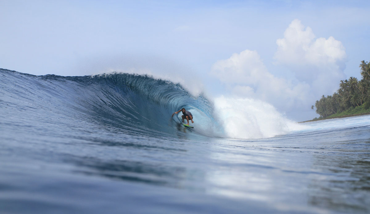 Clay nicely slotted. Photo: Brian Blank
